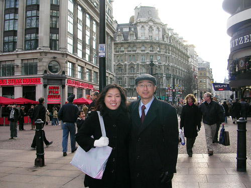 Dad and me in London, Spring 2005